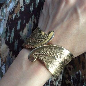 Fairy Leaf Gypsy Forrest Bracelet Cuff